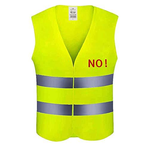 Alkia Sicherheitsweste - 360 Grad reflektierende Streifen, atmungsaktives Polyester, fluoreszierend, gelbe Weste/Jacke, Warnweste für Verkehr/Radfahren/Fahren, hohe Sichtbarkeit, Nachtarbeitskleidung -