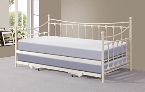 Memphis 3ft Single Day Bed with Trundle - Ivory or