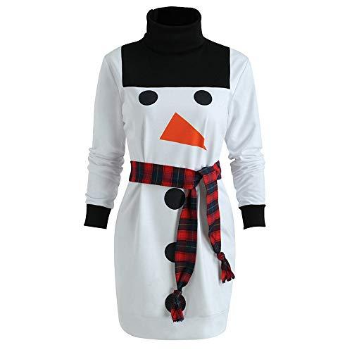 Schneemann Kostüm Damen - Pottoa Weihnachten KostüM Damen Frohe Weihnachten