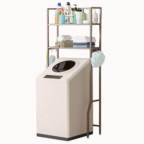 Rttzw ripiano per lavatrice cremagliera lavatrice in acciaio al carbonio balcone lavanderia mobile tamburo lavatrice ripiano superiore ripiano 2 strati con gancio