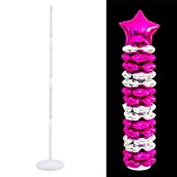 AOLVO Balloon Column Stand Kit 38.1inch, Balloon Arch Stand with Frame Base and Pole for Birthday Decorations, Wedding Decorations, Party Decorations, Christmas Decorations