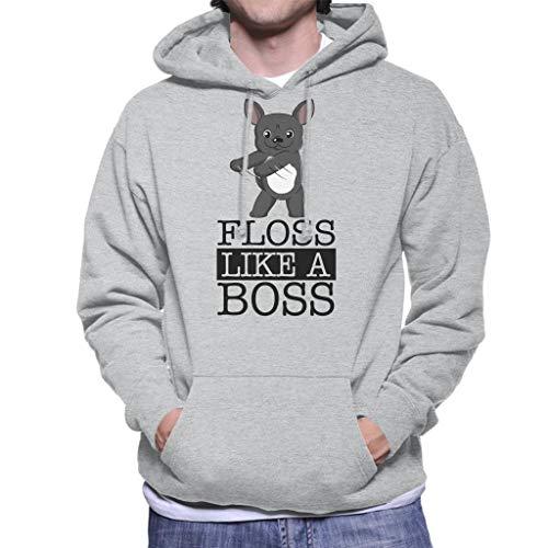Coto7 French Bulldog Floss Like A Boss Men's Hooded Sweatshirt