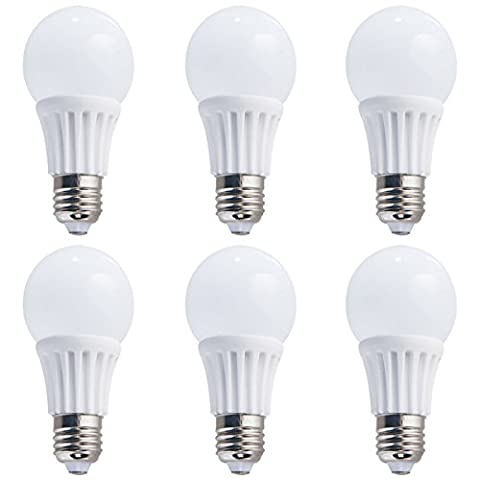 6-pack Non-gradable 7w (40w équivalent) Lumière LED T60 Ampoules E27 Base Angle de faisceau de 270 degrés (Daylight 6000K)