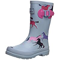 Joules Girls Welly Rain Boot, Magical Unicorn, 13 Medium UK Little Kid (1 US)