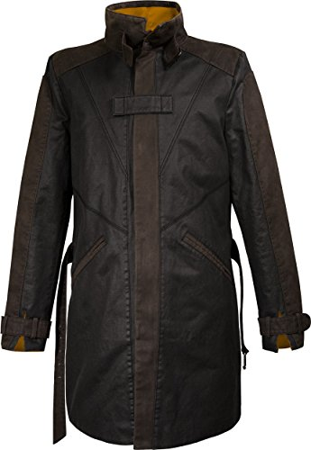 Musterbrand-Watch-Dogs-Trench-Coat-Herren-Vigilante-20-Aiden-Pearce-Jacke-Braun