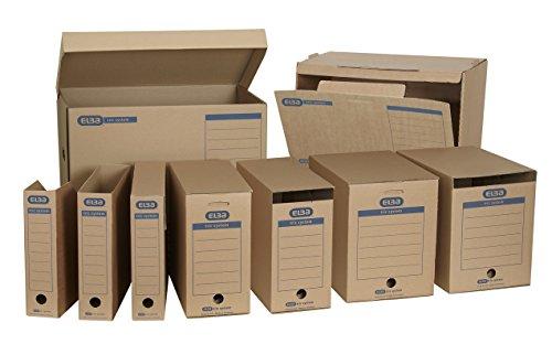 "Elba 100421143 Systemcontainer ""tric system"" mit Klappdeckel, 10 Stück, naturbraun - 6"
