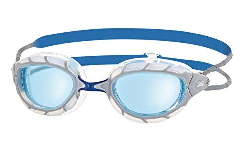 Zoggs Predator Schwimmbrille, White/Blue/Tint, One Size