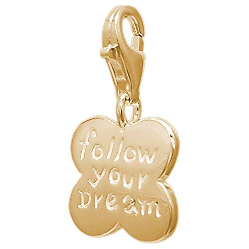 Melina Damen-Charm Bettelarmband Anhänger Kleeblatt vergoldet Gelbgold 925 Silber - 1801621