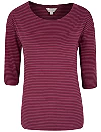 Mountain Warehouse Salcombe Stripe ¾ Sleeve Womens Top - 100% Cotton, Lightweight, Breathable, Natural Fibres With Quality Print - Ideal For Kids On Hot Summers