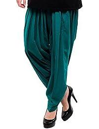 Kurti Studio Women's Cotton Semi Patiala Salwar (semip18_Teal Green_Free Size)