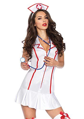 LEG AVENUE 83050 - Krankenschwester Kostüm, Größe: S/M (EUR 36-38) (Sexy Krankenschwester Neckholder Kleid Kostüm)
