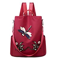 Egosy Dragonfly Embroidery Backpack Women