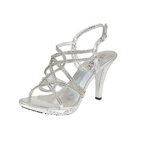 Gemz london, sandali donna, argento (argento), 36