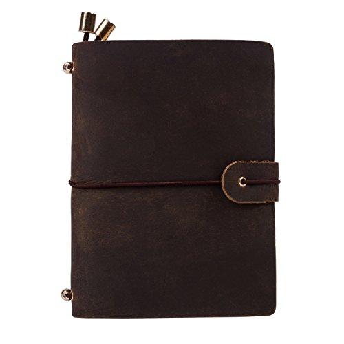 Vintage Cuaderno de Cuero Diario Bloc de Notas ( 6.7 x 3.74 inch)