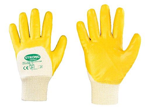 144 Paar Stronghand Nitrilhandschuhe Arbeitshandschuhe Gelb 0550 Yellowstar Gr. 10 Gelbe 10