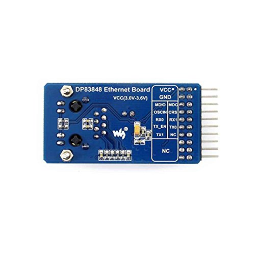 Aiming DP83848 Ethernet-Platine Hochleistungs-10 / 100Mbps Physical Layer Transceiver 3,3V Netzwerk Development Board-Modul Optionale Module