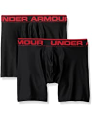 Under Armour O Series 6'' BoxerJock 2 PK Boxer, Hombre, Negro (Black), LG