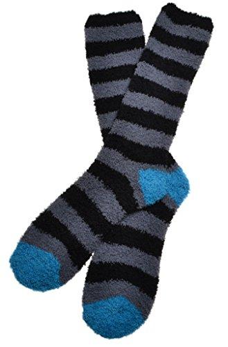 WB Socks calze da uomo a strisce e morbide- soffici e calde- calze comode 0f26e8fb352