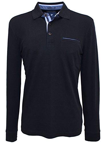 """PIERRE CARDIN """"Premium Cotton Polo maniche lunghe in 5colori Nero"""