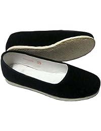 Mujer de artes marciales tradicionales Kung Fu Zapatillas zapatos de hecho a mano, mujer, negro, 2,5 UK