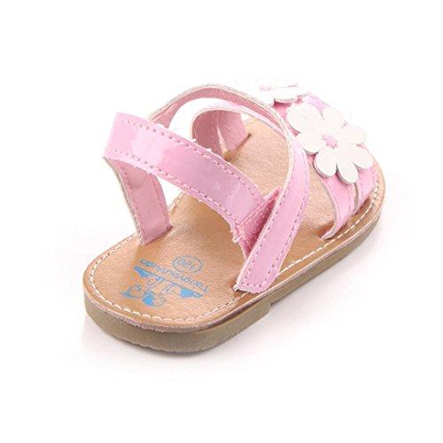 kingko® Stilvolle Blume Baby Mädchen Baby Schuhe Scarpe Haken Und Schleife Outdoor Schuhe Rosa