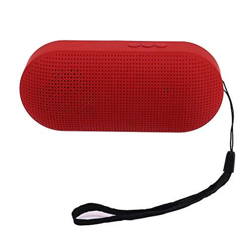 HiFi Tragbarer drahtloser Bluetooth-Lautsprecher Stereo-Soundleiste TF-Subwoofer-Säulenlautsprecher mit Handschlaufe für Samsung-Computer-Handys (Rot 10 Subwoofer)