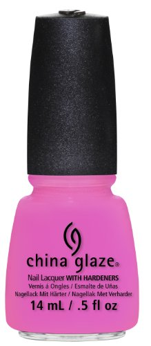 China Glaze Nail Lacquer with Hardner - Lacquered Effect - Bottoms Up, 1er Pack (1 x 14 ml) - Glaze China Pink