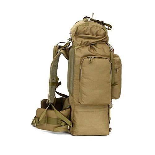 LF&F Backpack Rucksack Outdoor Camouflage GroßE KapazitäT 100L Reise Wanderrucksack Hochwertige Wasserdichte Nylon Camping Fitness Skifahren Wochenende GepäCk Tasche B