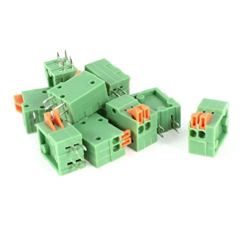 Sourcingmap a14052300ux0223150V 2A 2,54mm Pitch Gerade 2Pin Abstand PCB Mount Anschlüsse Typ Spring Terminal Blocks AC–Farbe Sortiert (10)