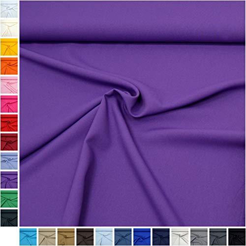 MAGAM-Stoffe ''Mara'' in 24 Farben | Allround-Stoff | Blickdicht und knitterarm | Ideal für Kostüme, Tischdecken, Dekostoff | Meterware ab 50cm (10. Lila)