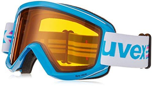 Uvex - Maschera Da Sci Fire Race S (1) Laser Gold Lite In Vari colori Heliobil 2014/15, colore: Ciano