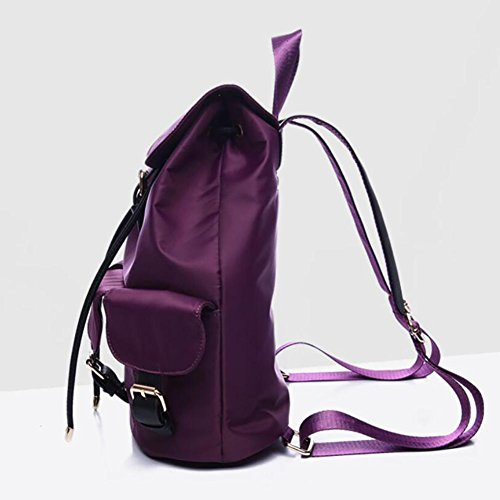 Doppelter YINGER purple Wasserdicht Kapazität Nylon Hohe Schultertasche Schulterrucksack Reisetasche Frau q1r1wzOE