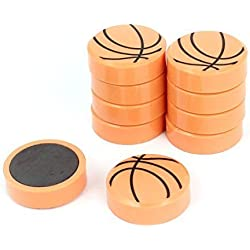 Plástico Baloncesto Estilo Nevera Imán Pegatina Decorativa 10 Piezas