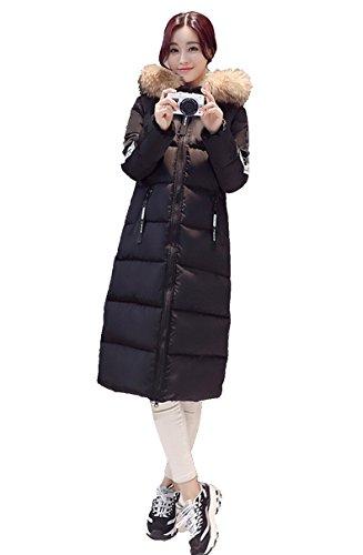 Blansdi 2016 Femme Veste à Capuche Hiver Manteau Blouson Fille Chaud Parka Veston Militaire Hoodie Long Coton Polaire Grand Taille Laçage