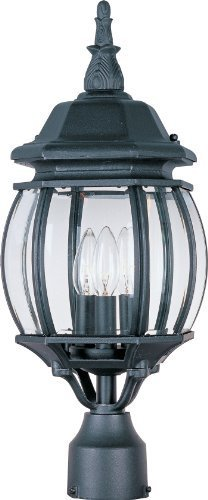 Maxim Lighting 1035 Crown Hill Outdoor Pole/Post Mount Lantern, Black Finish, 8 by 21-Inch by Maxim Lighting -