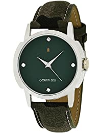 Golden Bell Original Green Dial Green Strap Analog Wrist Watch For Men - GB-895
