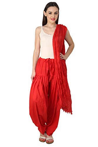 Pistaas Full cotton Patiala Salwar With Dupatta (RED,PPWDRED)