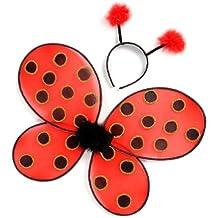 Grandes imitaciones - alas y antenas para disfraz de mariquita