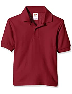 Fruit of the Loom niños polo de piqué Polo Plain manga corta camiseta Rojo Rojo (Burgundy) 3 años