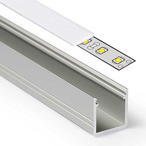 1m LED Aluprofil SMART (SM) Aluminium Profil-Leiste eloxiert für LED