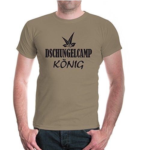 buXsbaum® T-Shirt Dschungelcamp-König Khaki-Black