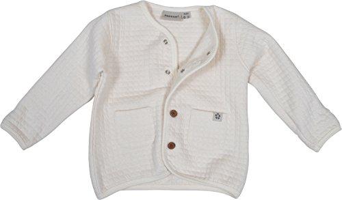 Papfar Unisex Baby Strickjacke Quilted Sweat, Elfenbein (Offwhite 410), 56 (Herstellergröße: 0M)