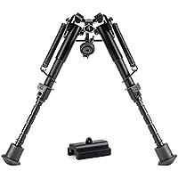 Pinty Zweibein Gewehr 15cm-23cm (6''-9'') Bipod mit Adapter und Swivel Stud Mount Taktische federbelastete Beine Ständer Rückkehr Rest Bipod for Hunting Shooting Rifle Pistol Weapon