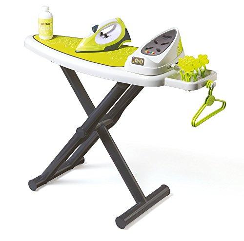 Smoby - 330114 - Table à Repasser + Centrale Vapeur avec Boutons + Fer à Repasser - Accessoires Inclus