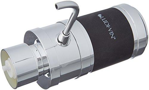 Ludi-Vin 5060388472047–Aireador de Vino eléctrico Metal Negro 12x 6x 14,5cm