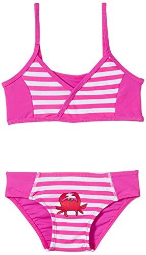 Playshoes Baby - Mädchen Schwimmbekleidung, gestreift 460104 Bikini Krebs von Playshoes mit UV-Schutz nach Standard 801 und Oeko-Tex Standard 100, Gr. 110/116, Mehrfarbig (900 original)