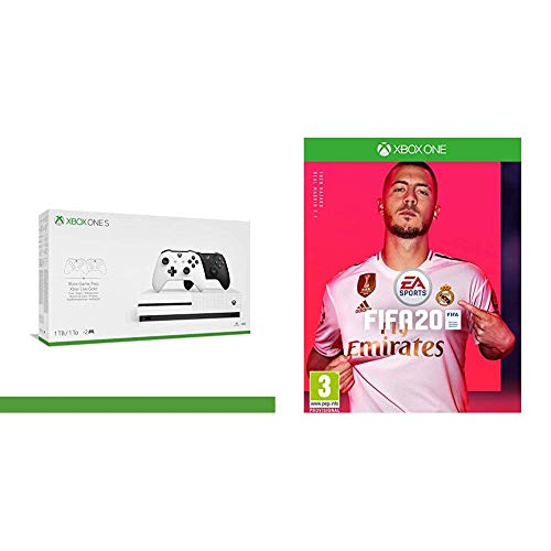Xbox One S - 1TB Bundle 2Nd Controller (1X Bianco, 1X Nero) + 14 Days Live Gold + 1 m Gamepass + FIFA 20