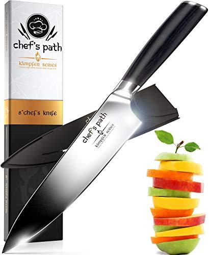Cuchillo de Cocina, Cuchillo de Chef de 8 Pulgadas - Cuchillo de Chef