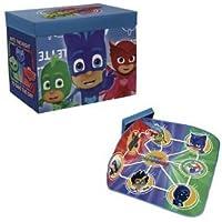 Preisvergleich für Die pyjamasques–Spielzeugkiste mit Kofferraumwanne, Spiele und Deckel pyjamasques