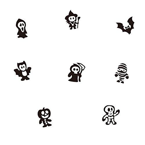 Halloween Creative Wand Aufkleber (8Stück) Geister, Kobolde, Fledermäuse, Etc. Tür Treppen Wohnzimmer Schlafzimmer Decor für Halloween Party
